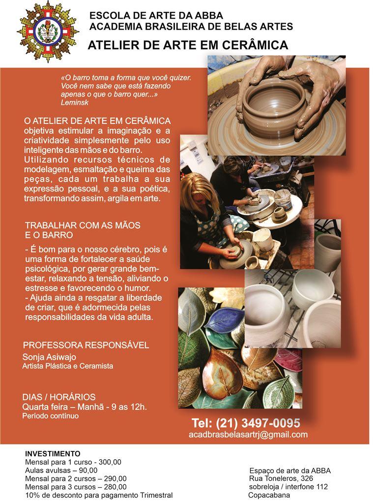 APRESENTAÇÃO CERÂMICA - Atelier de Arte em Cerâmica