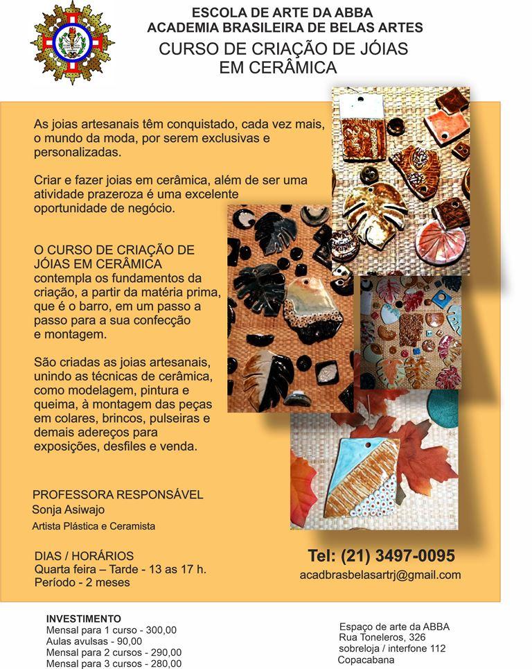 APRESENTAÇÃO JOIAS EM CERÂMICA versão 17 - Curso de Criação de Jóias em Cerâmica