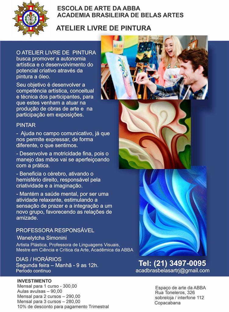 APRESENTAÇÃO PINTURA EM IMAGEM - Atelier Livre de Pintura