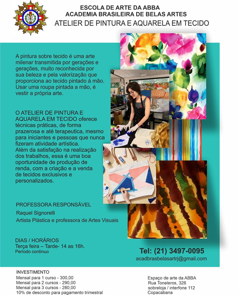 APRESENTAÇÃO PINTURA EM TECIDO versão 17 - Atelier de Pintura e Aquarela em Tecido