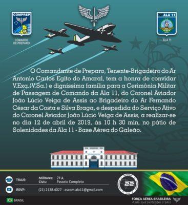 2019 04 Convite passagem de comando ala 11 op1 367x400 - Marcelo Azevedo dos Santos (Marcelo Azeva)